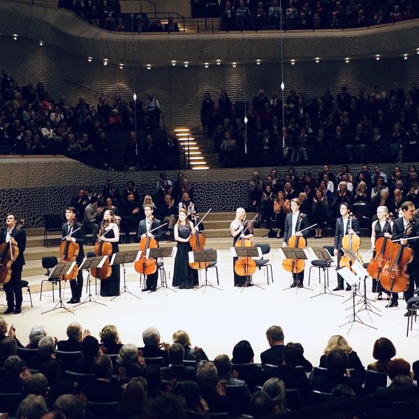 12 Cellisten der Deutschen Stiftung Musikleben @Elbphilharmonie Hamburg ©Walter Remy